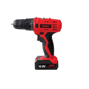 Amtech V6505 Cordless Drill Driver with 10.8V Li-Ion Rechargeable Battery, 17 Torque Settings, 710 W, 240 V