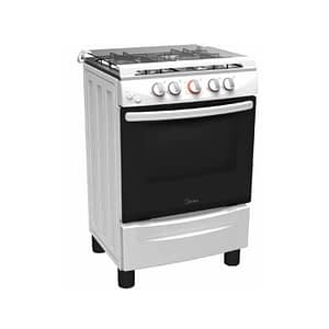 MIDEA GAS COOKER 4BURNERS+OVEN+GRILL 50X55 - 20BMG4G007-W