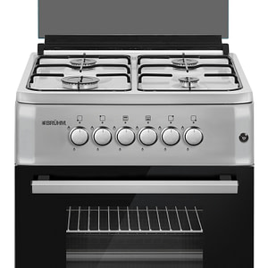 • 60*60 • BLACK • HIGH QUALITY FINISH DESIGN • GAS OVEN • GAS GRILL • ENAMEL PAN SUPPORT • ALL GAS (4BURNERS)