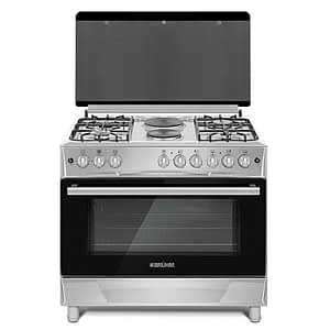 90x60cm, 4 Gas Cooker + 2 Electric Cooker with Gas Oven (BGC-9642GS-Silver)
