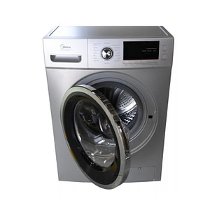 MIDEA WASHING MACHINE MFC80-ES1401 8 KGS Silver - Front Loading