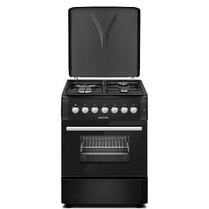 60*60cm, 3 Gas Burners +1 Electric Hotplate Cooker (BGC-6631G2 Black)