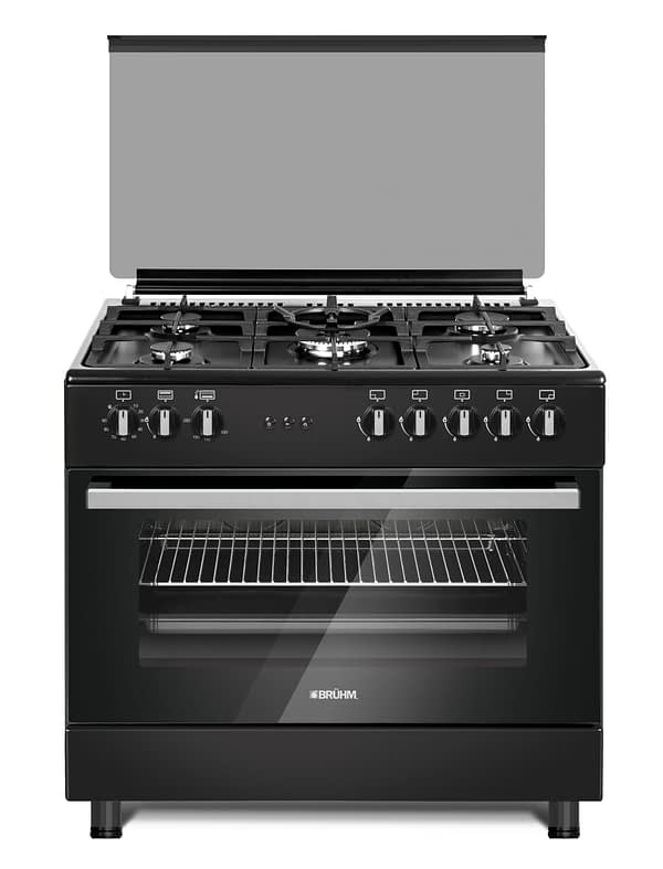 90*60cm, 5 Gas Burner Cooker with Gas Oven