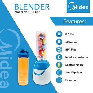 Midea 0.6L Smoothie Blender (BL-1189)