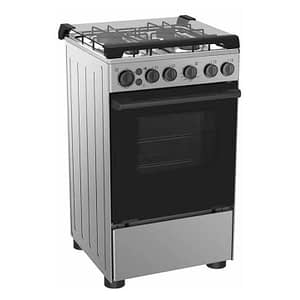 MIDEA 4-BURNER GAS COOKER With Oven & Grill (SILVER- 20BMG4G007-S