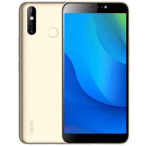 Tecno Pouvoir 3 Air (LC6) 6.0 5000mAh, Android™ 9.0, 16GB + 1GB RAM, 4G LTE, 8+8MP Camera, 2.0GHz Face ID, Fingerprint - Gold
