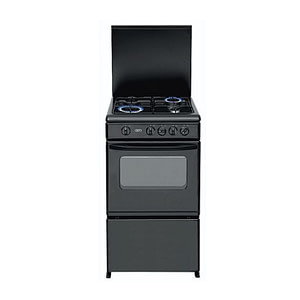 COOKER-20BMG4G007-S 50*55 4GAS -GRILL- OVEN- BLACK